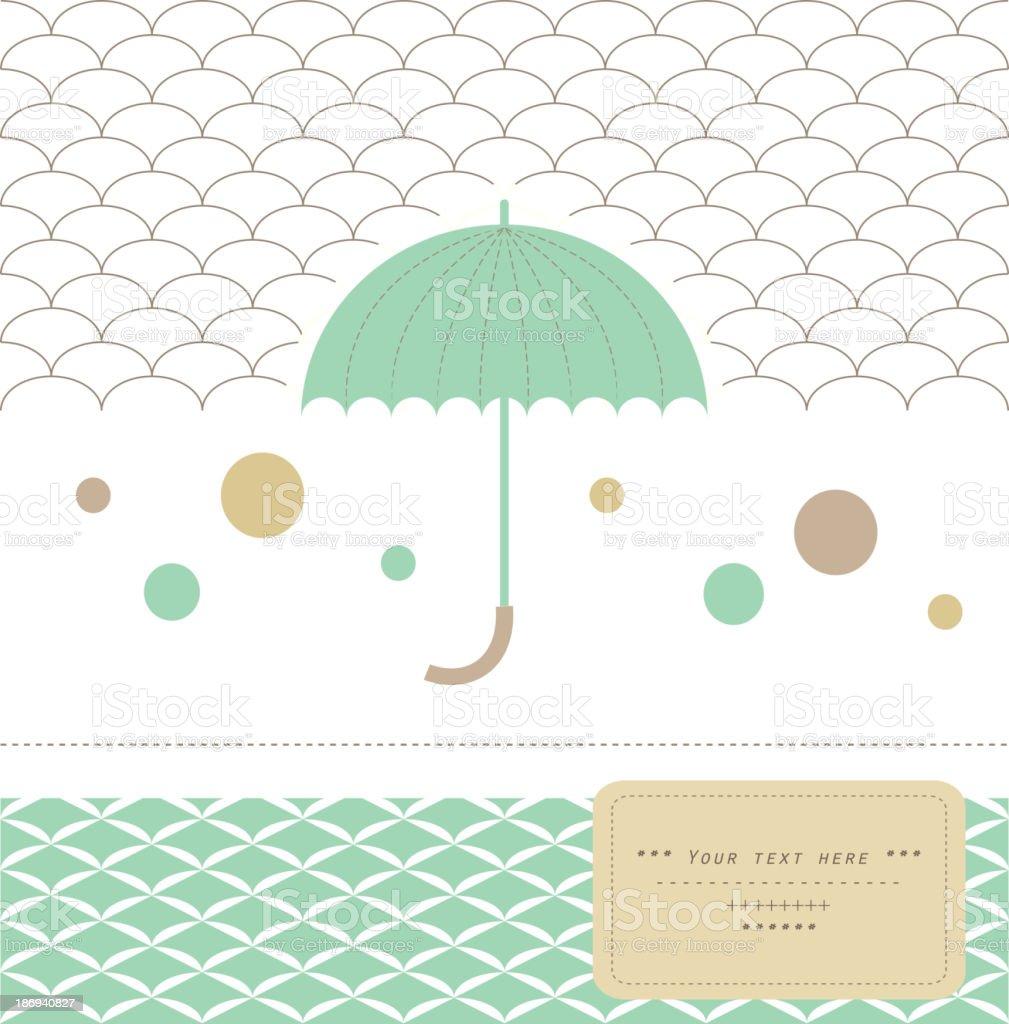 Elegant umbrella. royalty-free stock vector art