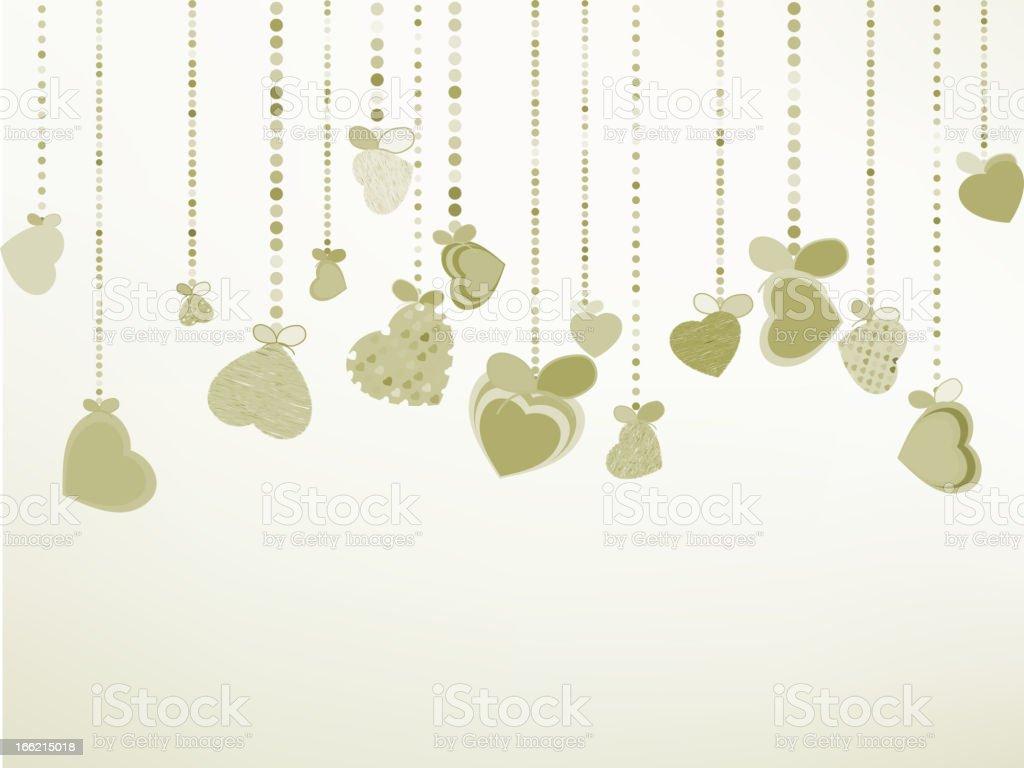 Elegant Valentine's or wedding illustration. EPS 8 royalty-free stock vector art