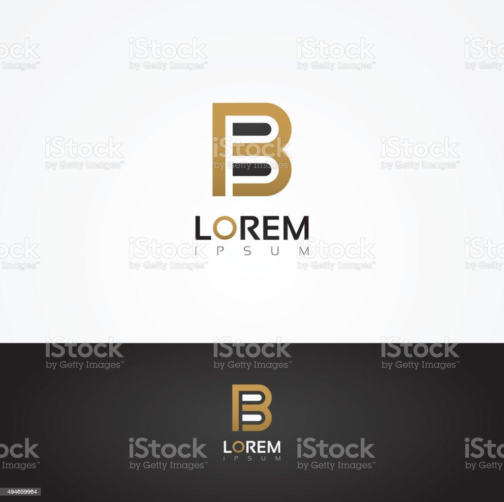 Elegant vector graphic alphabet / letter B vector art illustration