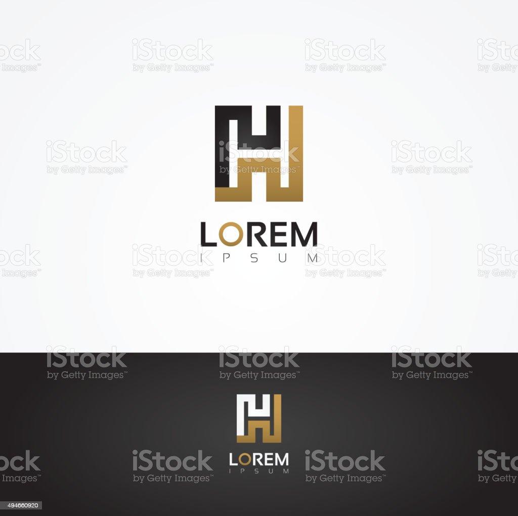 Elegant vector graphic alphabet / letter H vector art illustration