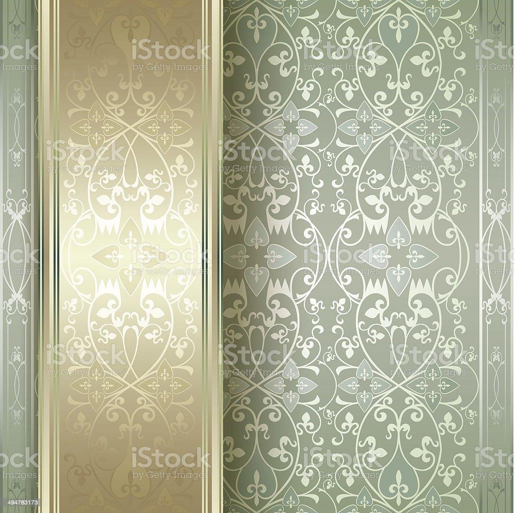 Elegant vintage floral background royalty-free stock vector art