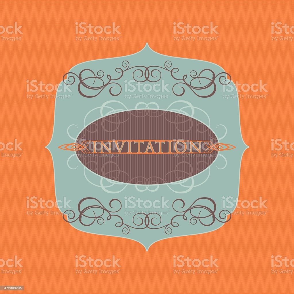 Elegant Vintage Invitation royalty-free stock vector art