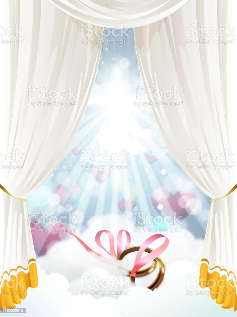Elegant Wedding Background royalty-free stock vector art