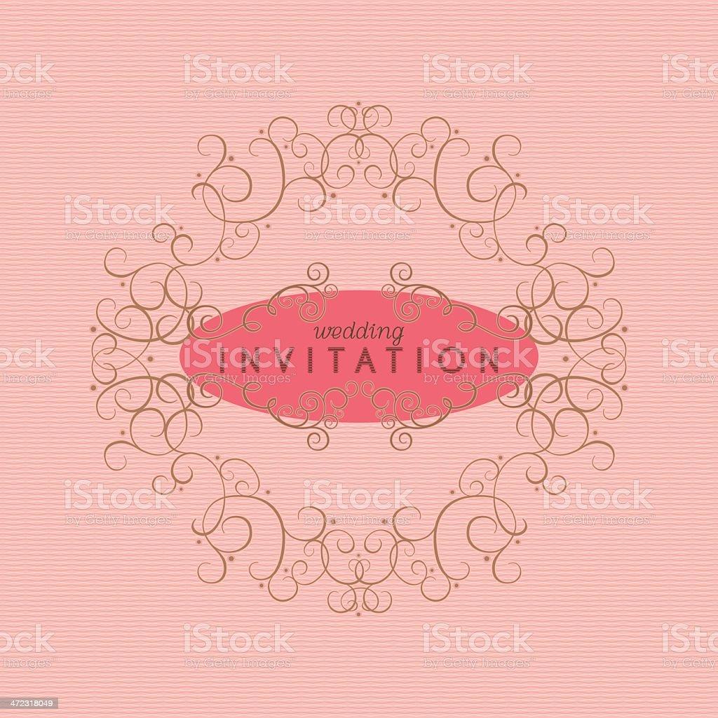 Elegant Wedding Invitation royalty-free stock vector art