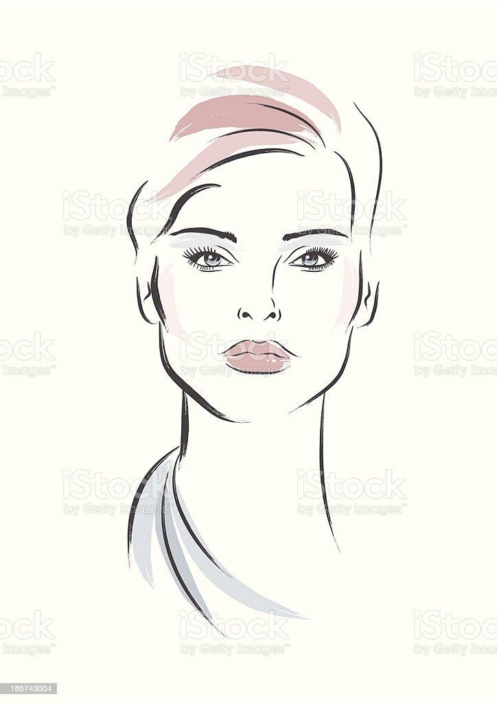 Elegant Woman vector art illustration