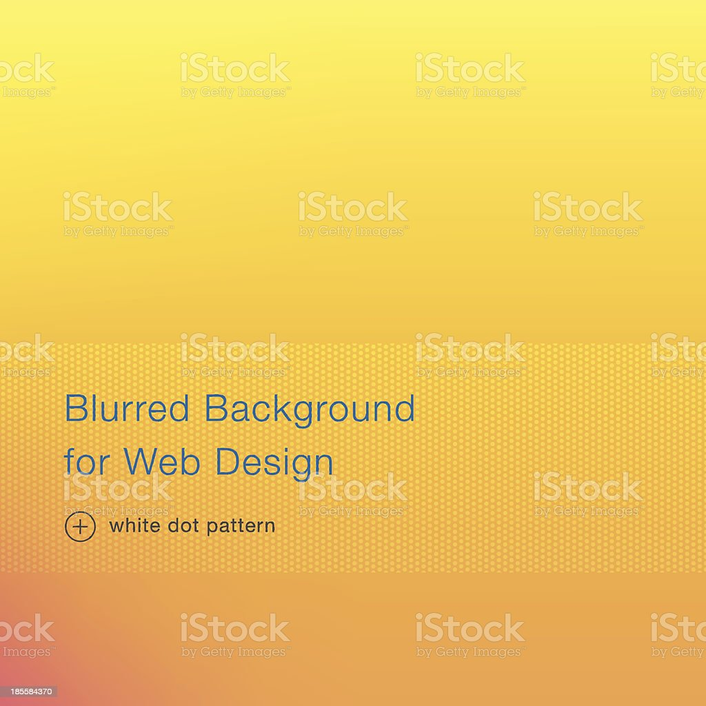 Elegant yellow blurred background for web design vector art illustration