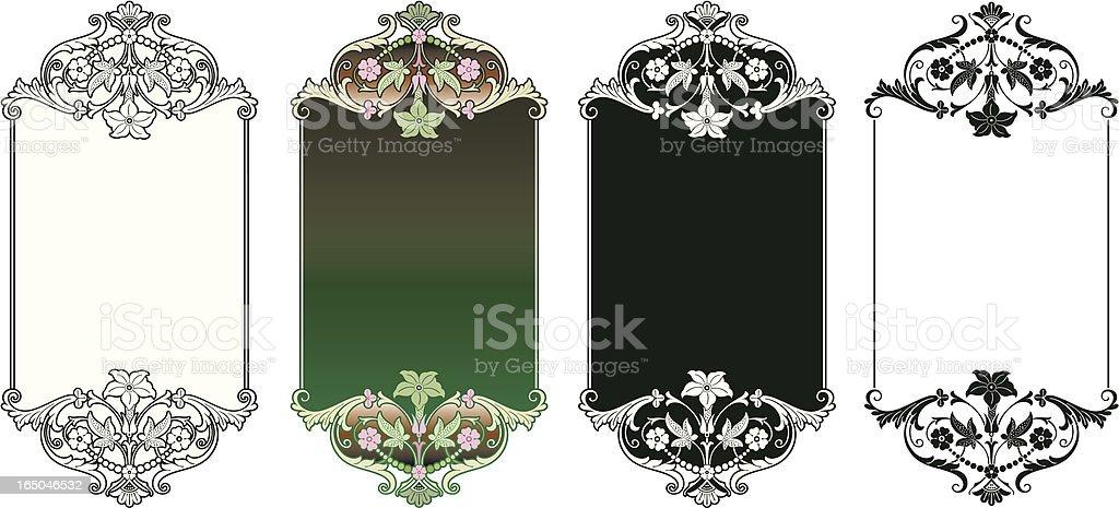 Elegante Victorian Lettering Panels royalty-free stock vector art