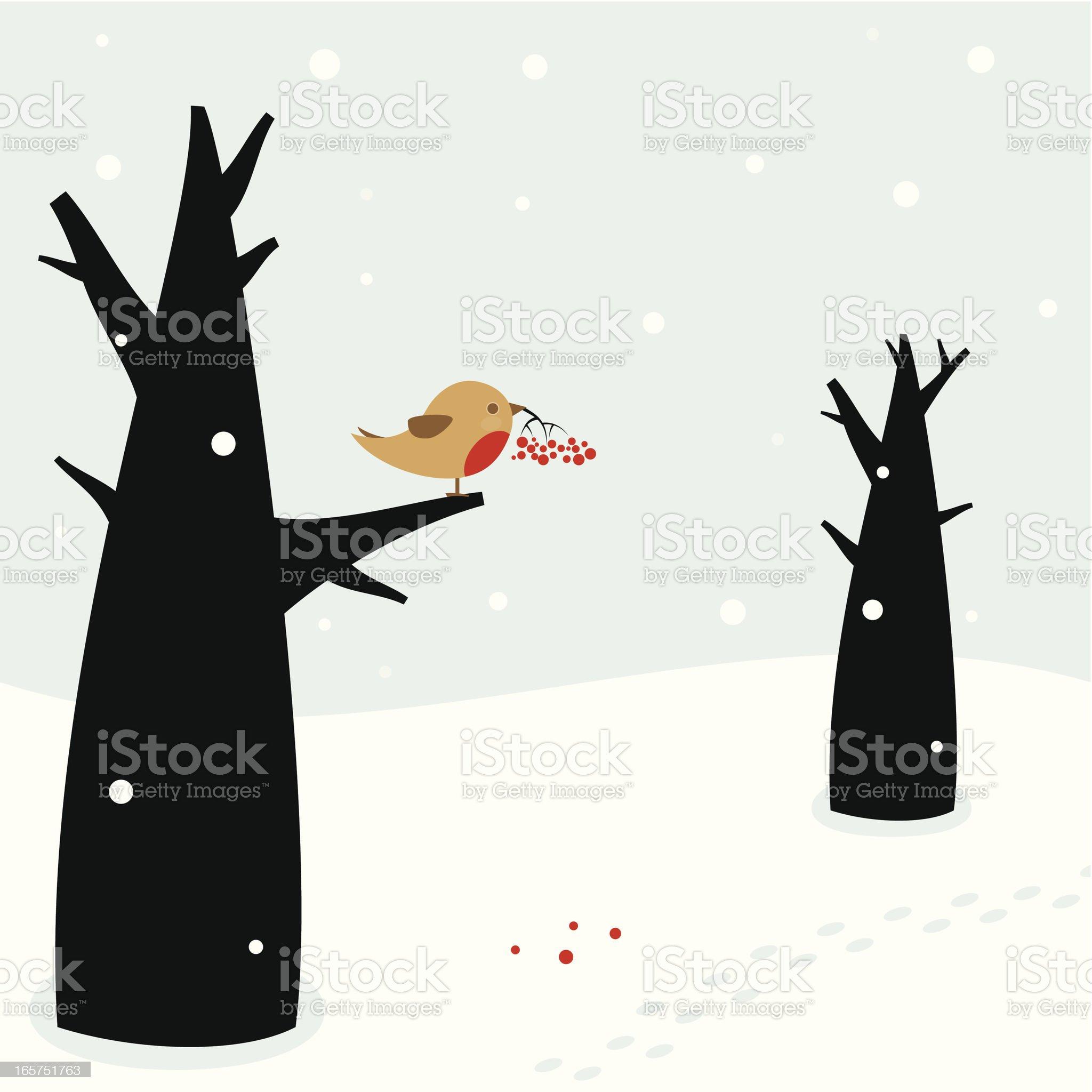 Elegiac christmas royalty-free stock vector art
