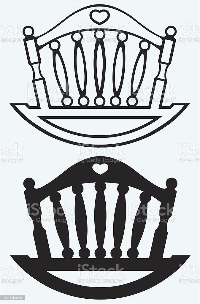 Element cot. Cradle vector art illustration