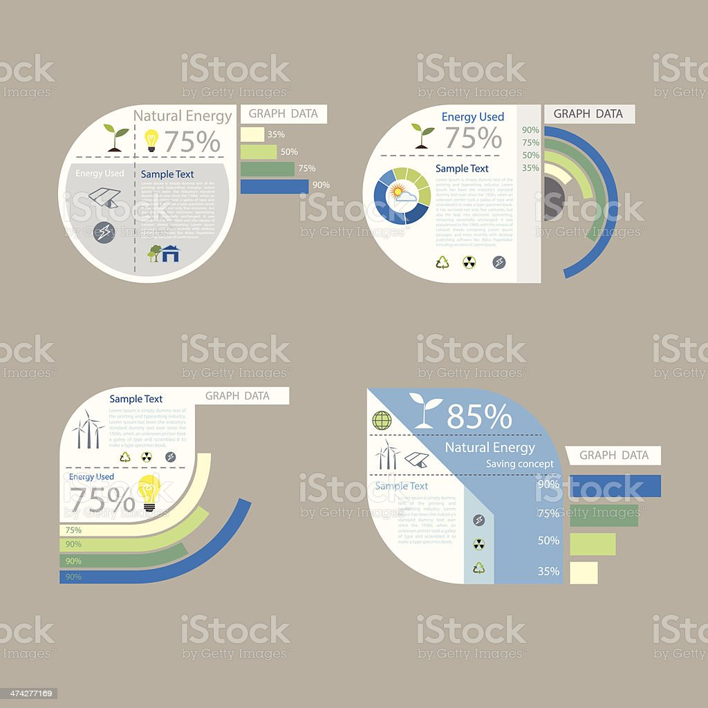 element of graph design for presentation chart vector art illustration