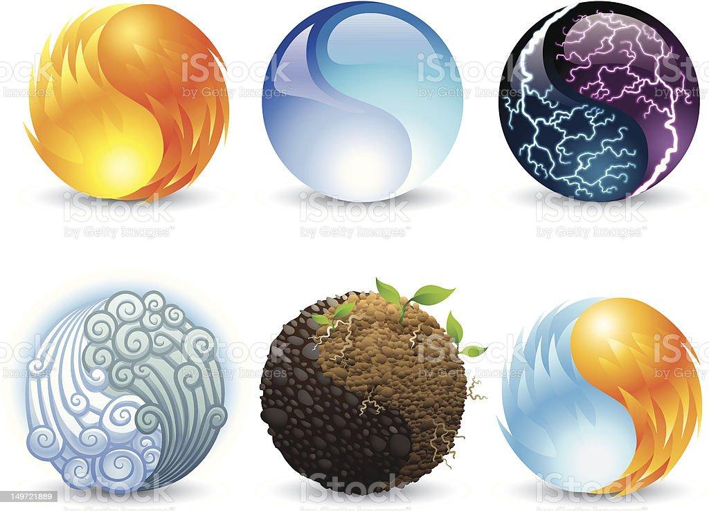 Elemental Harmonies vector art illustration