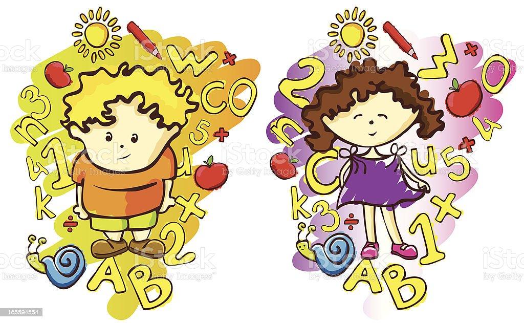elementary school royalty-free stock vector art