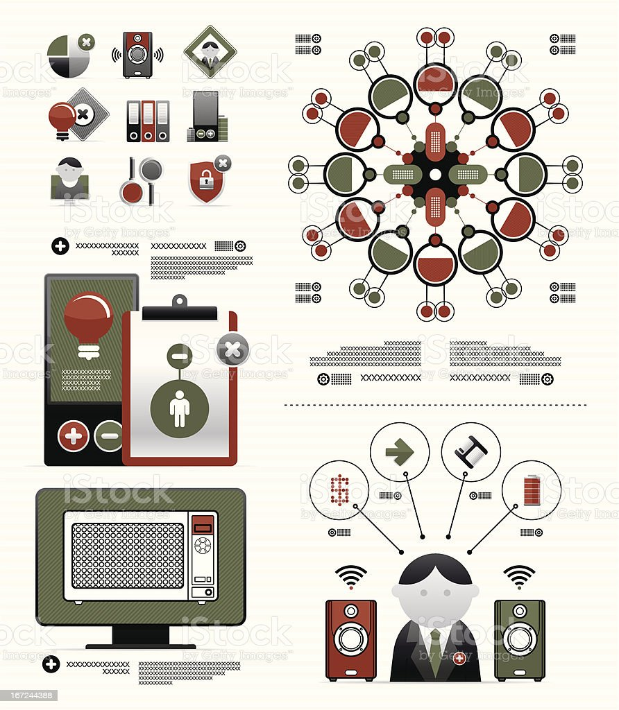 elements for a business infographic royalty-free stock vector art