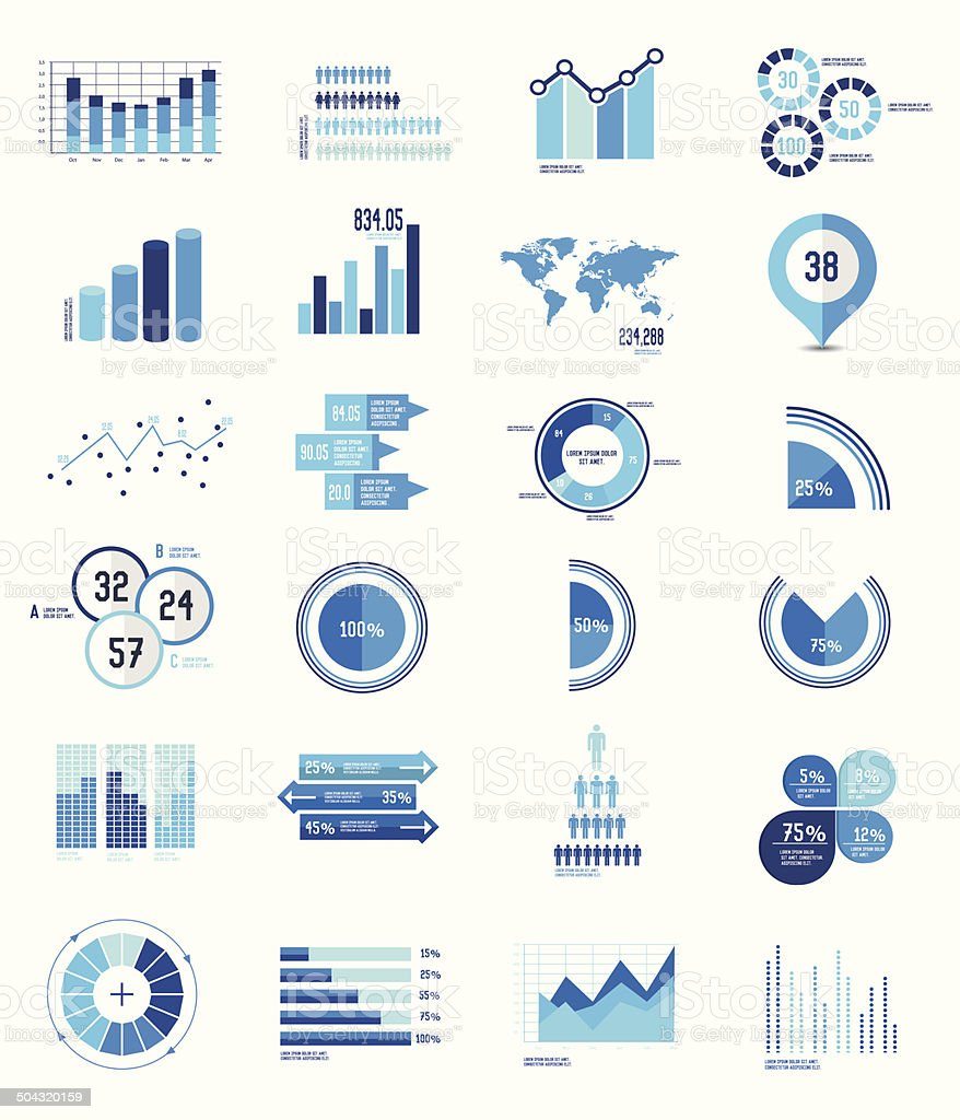 Elements Infographics Data analysis on white background,vector vector art illustration