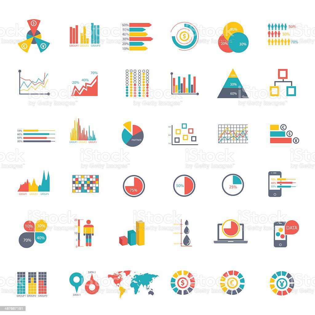 Elements Of Info-graphics vector art illustration