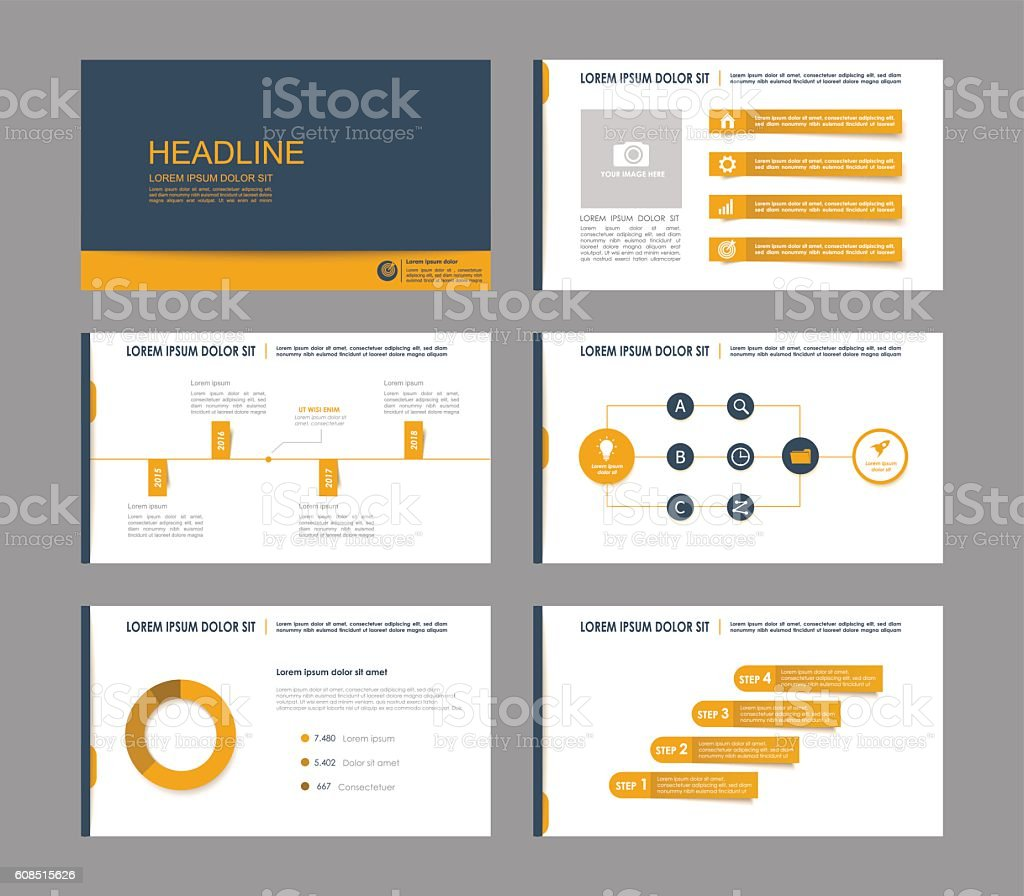 Elements of infographics vector art illustration