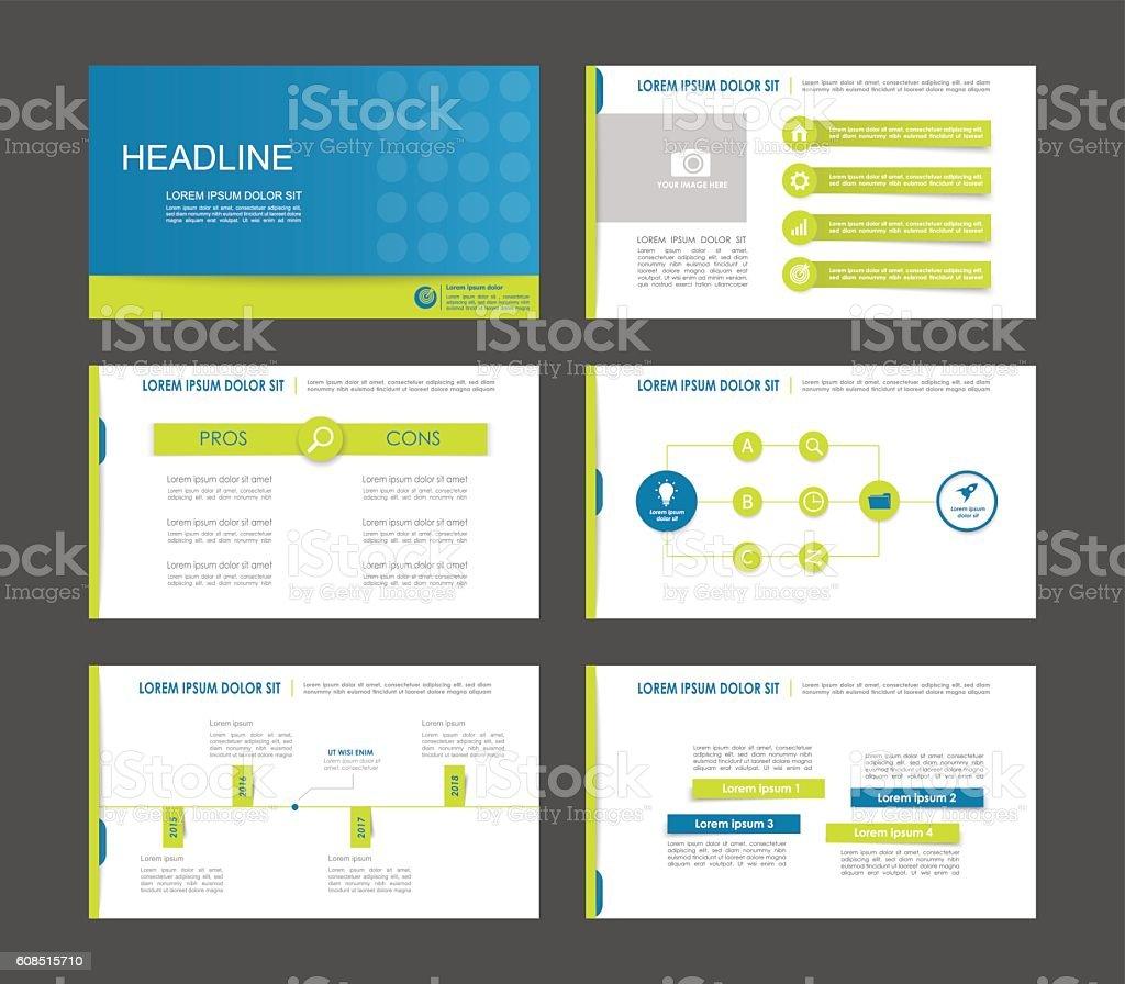 Elements of infographics vector art illustration