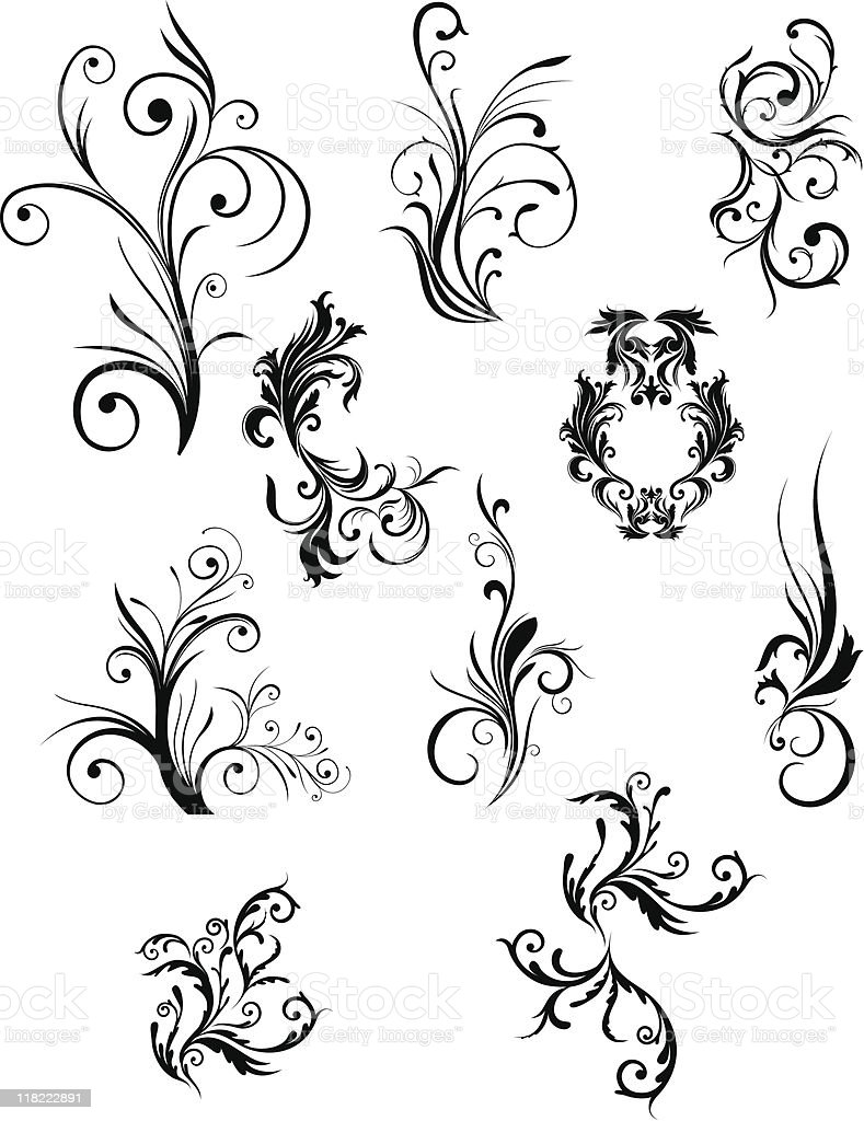 elements of the pattern royalty-free stock vector art