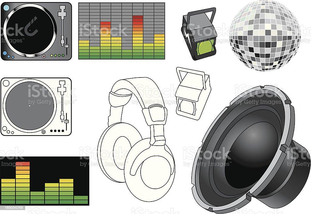 DJ Elements royalty-free stock vector art