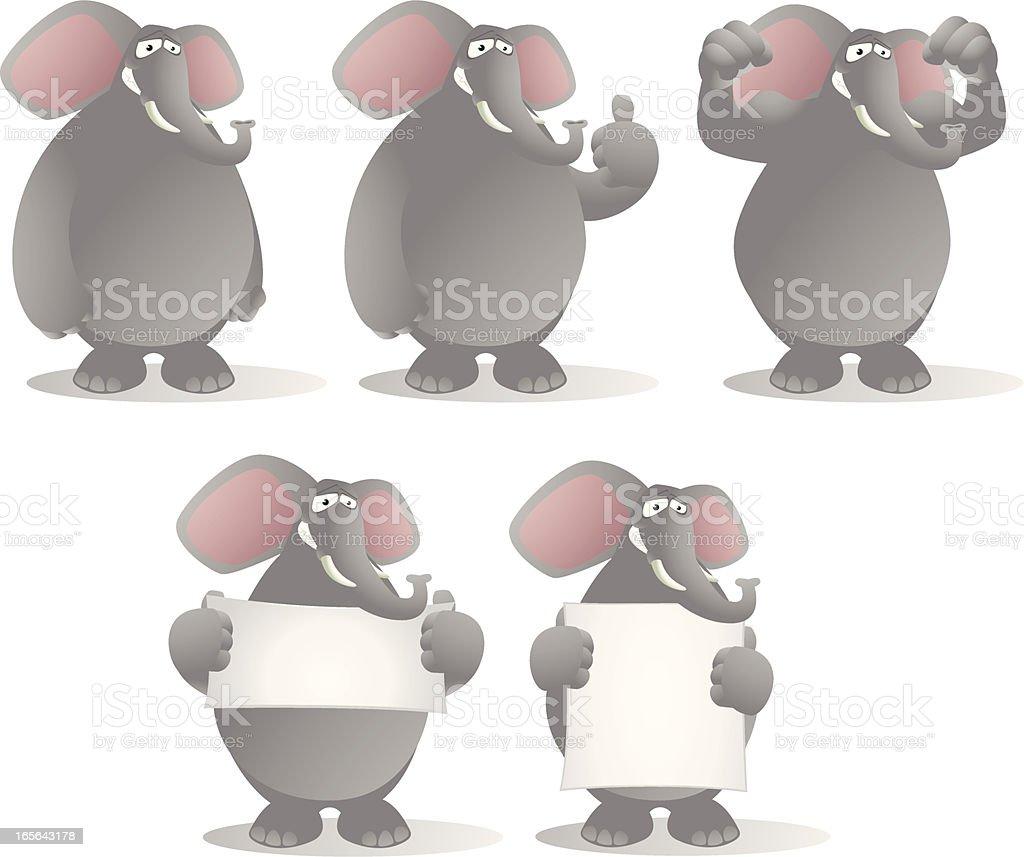 Elephant cartoon collection royalty-free stock vector art