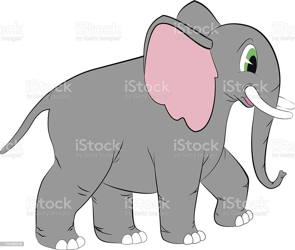 elephant cartoon royalty-free stock vector art