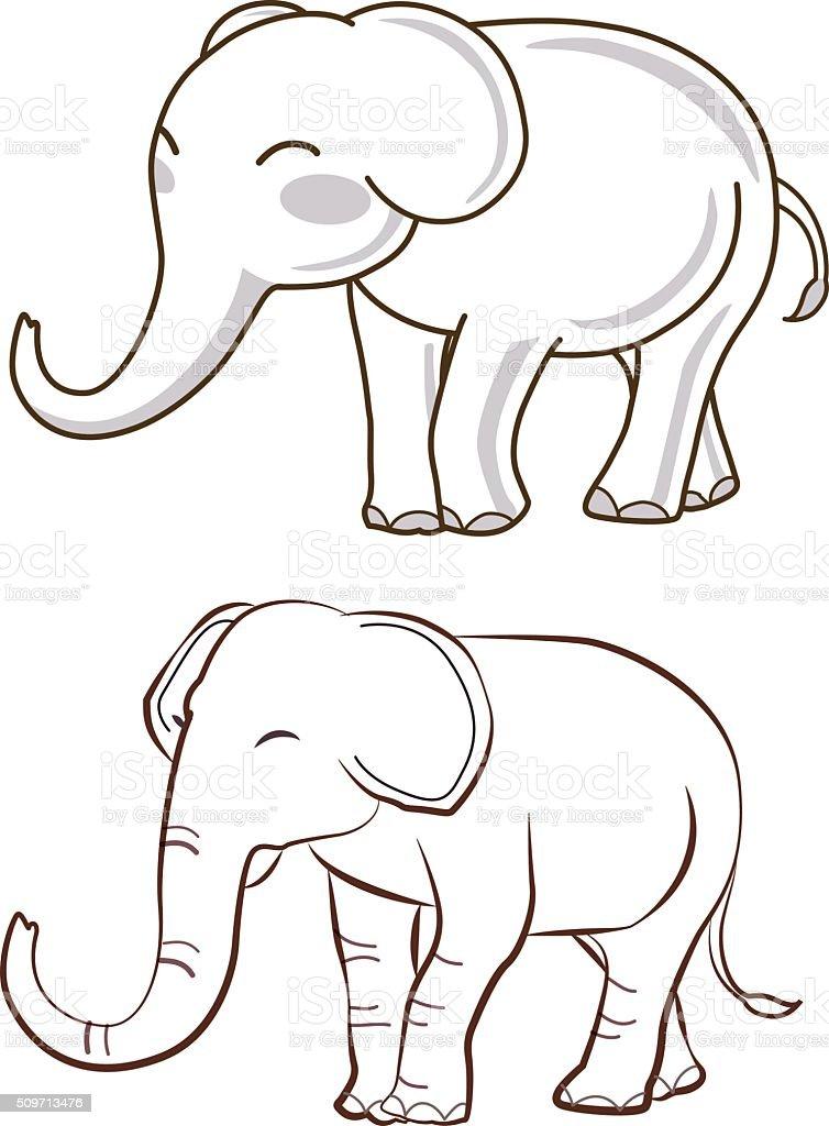 elefanten comic vektor illustration 509713476 istock. Black Bedroom Furniture Sets. Home Design Ideas