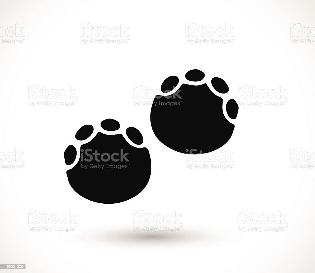 Elephant Footprint Paw Print Vector Stock Art