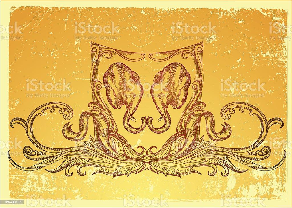 Elefanten-shield Lizenzfreies vektor illustration