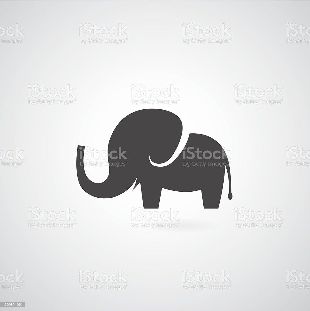 Elephant symbol vector art illustration