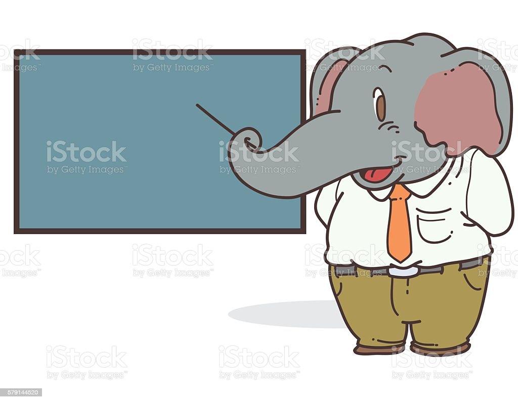 elephant teacher cartoon stock vector art 579144520 istock