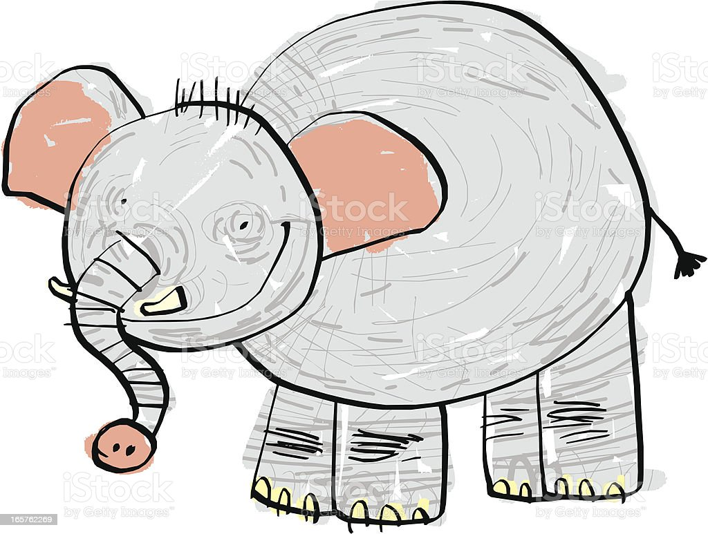 Elephant royalty-free stock vector art
