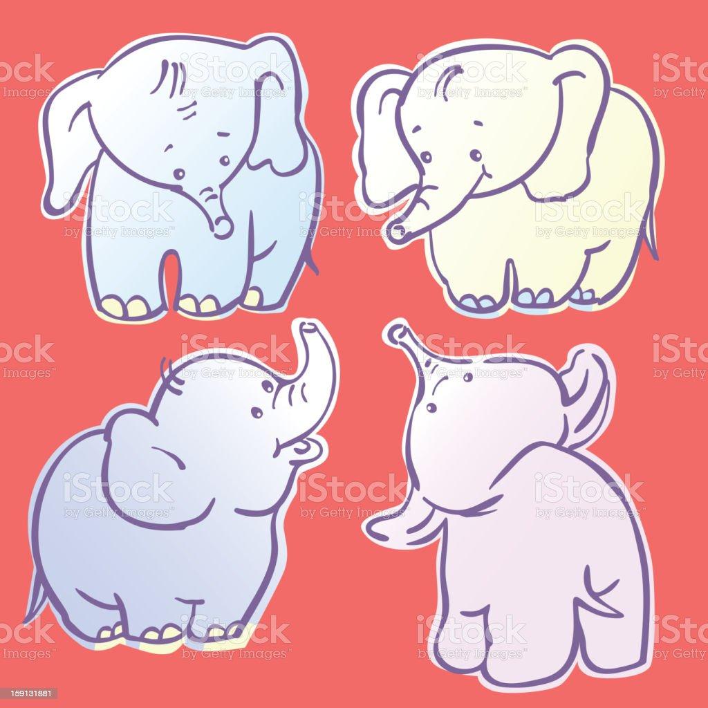 Elephants royalty-free stock vector art