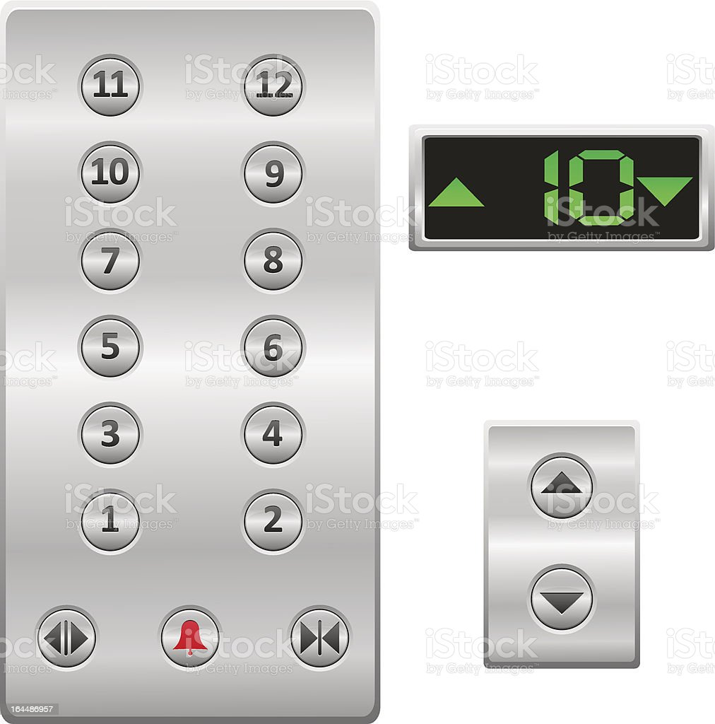 elevator buttons panel vector illustration vector art illustration