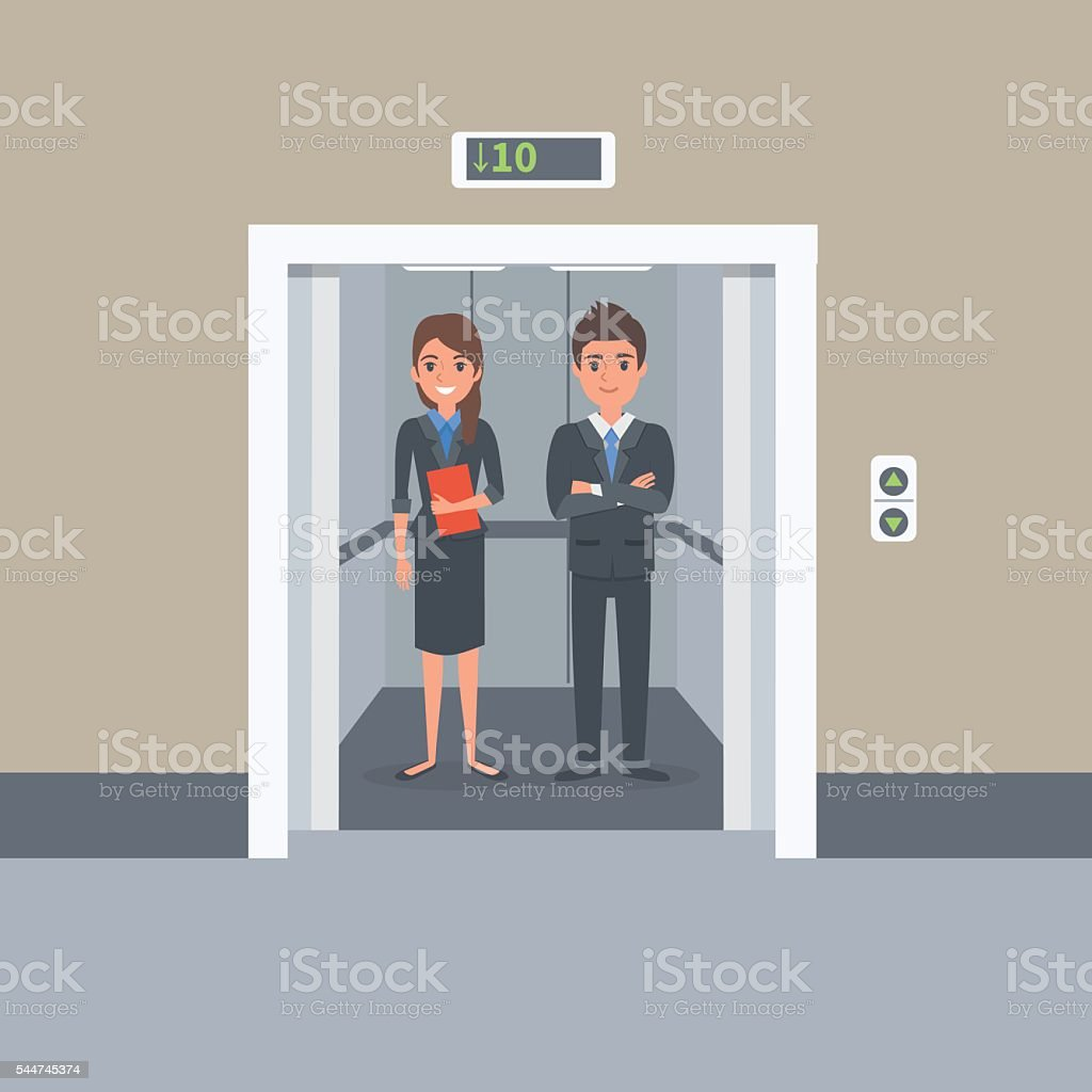 Elevator vector art illustration