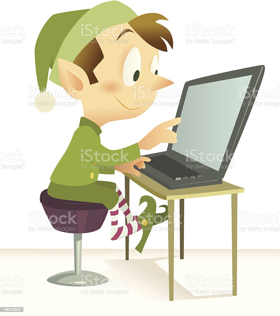 Elf Online royalty-free stock vector art