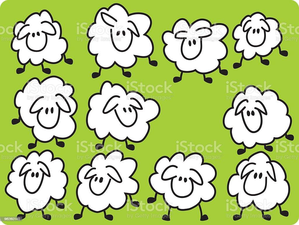 Eleven sheeps. royalty-free stock vector art