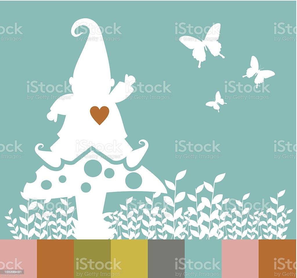 Elf Christmas tree composition royalty-free stock vector art