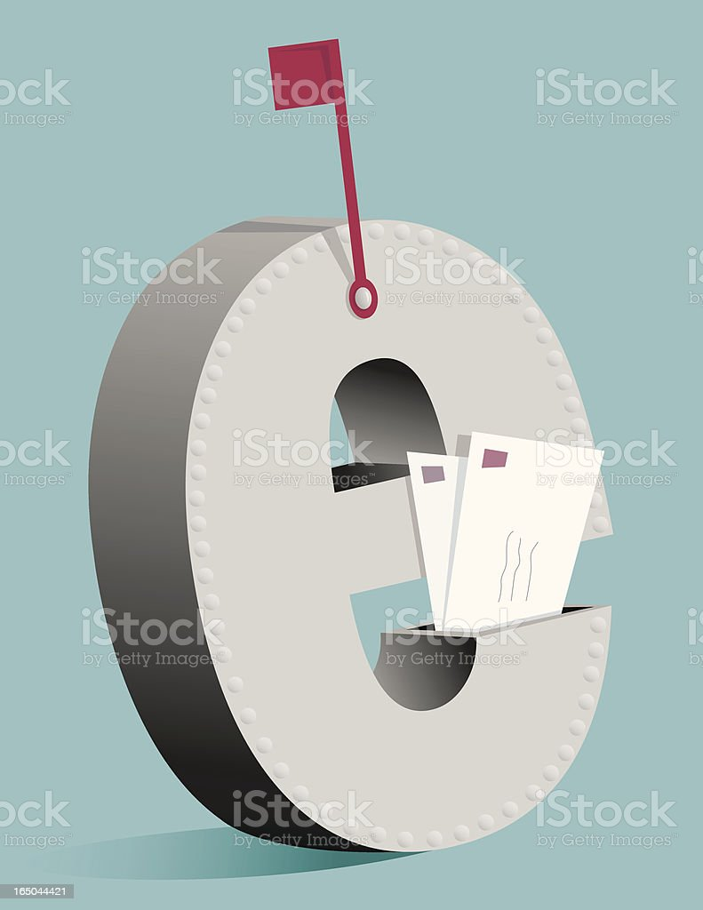 Email Box royalty-free stock vector art