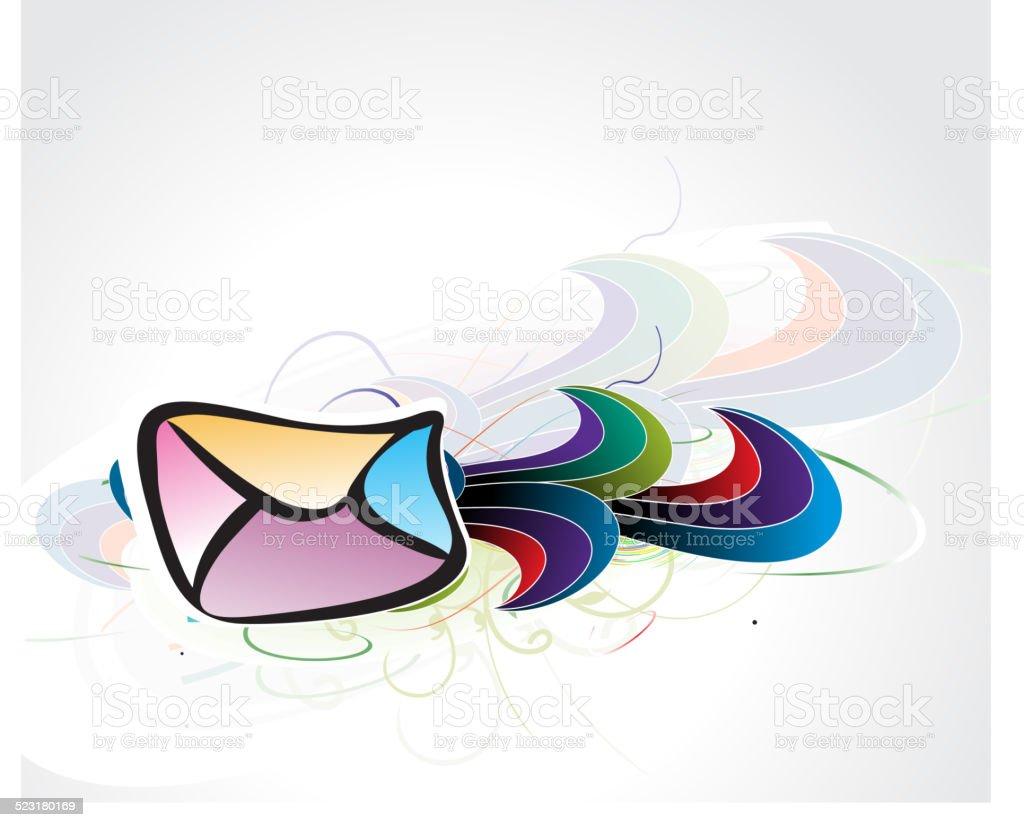 e-mail concept design vector art illustration