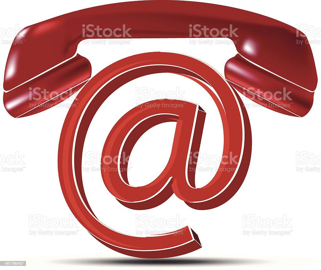 Email Contact | At Symbol royalty-free stock vector art