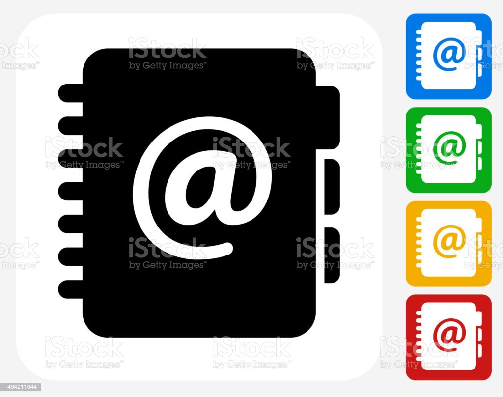 Email Contacts Icon Flat Graphic Design vector art illustration