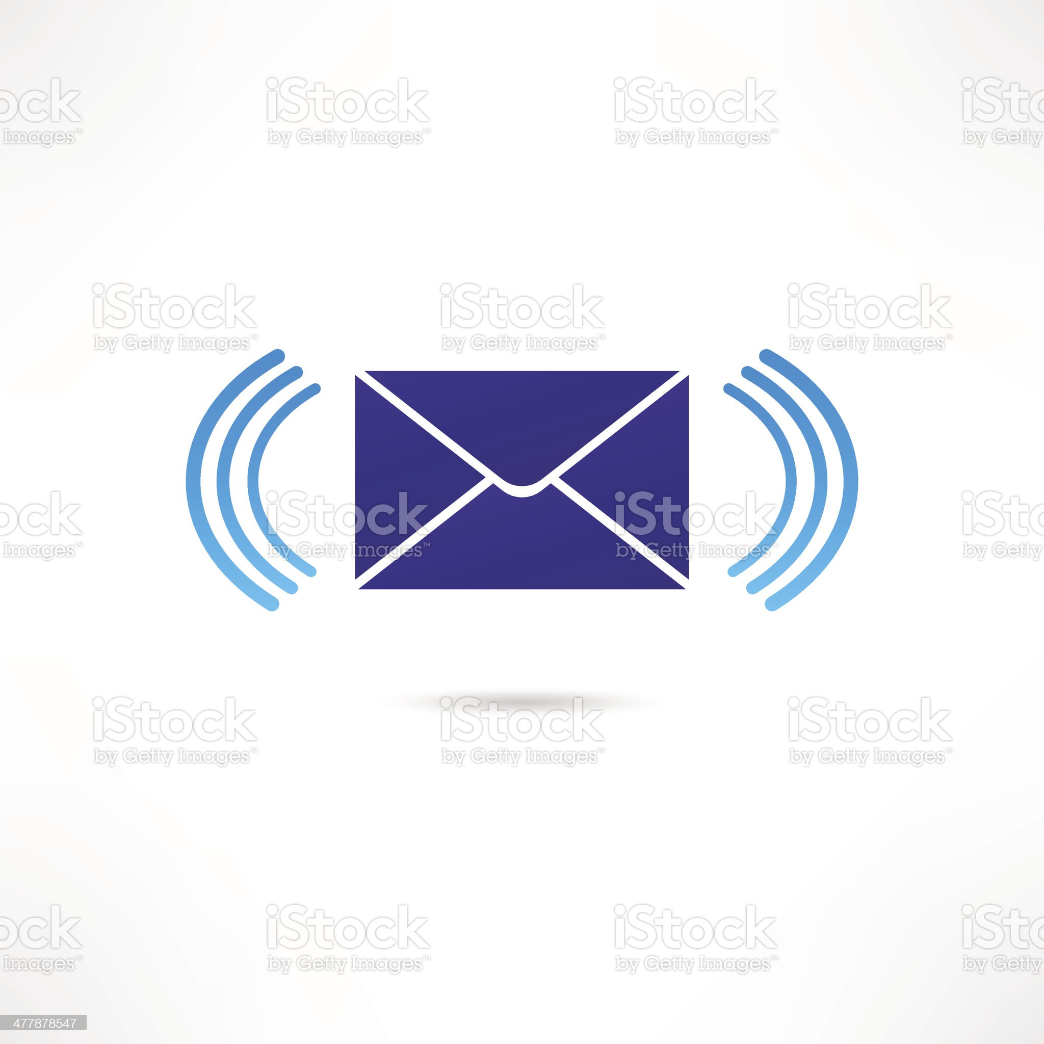 Email correspondence icon royalty-free stock vector art