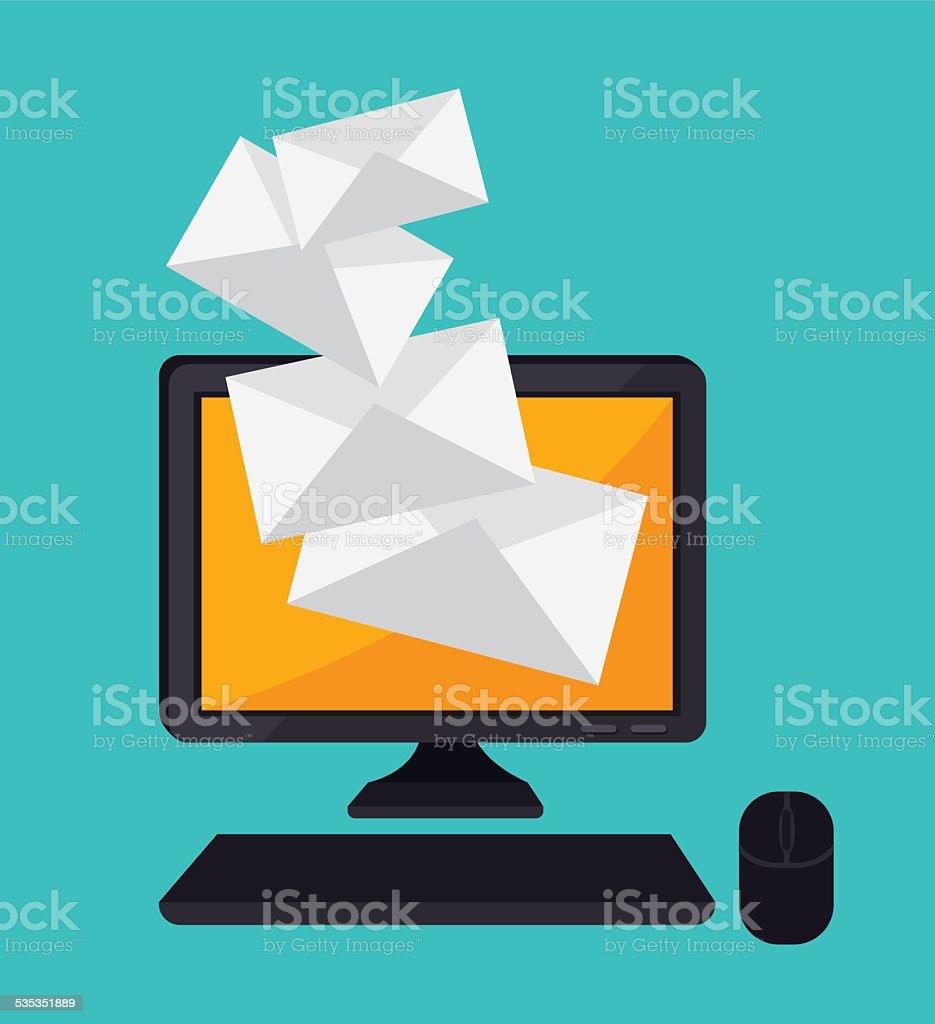 Email design, vector illustration. vector art illustration
