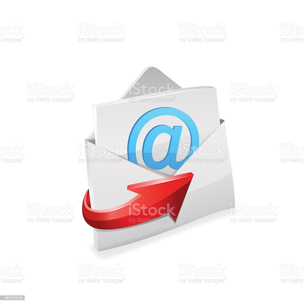 Email envelope. Vector vector art illustration