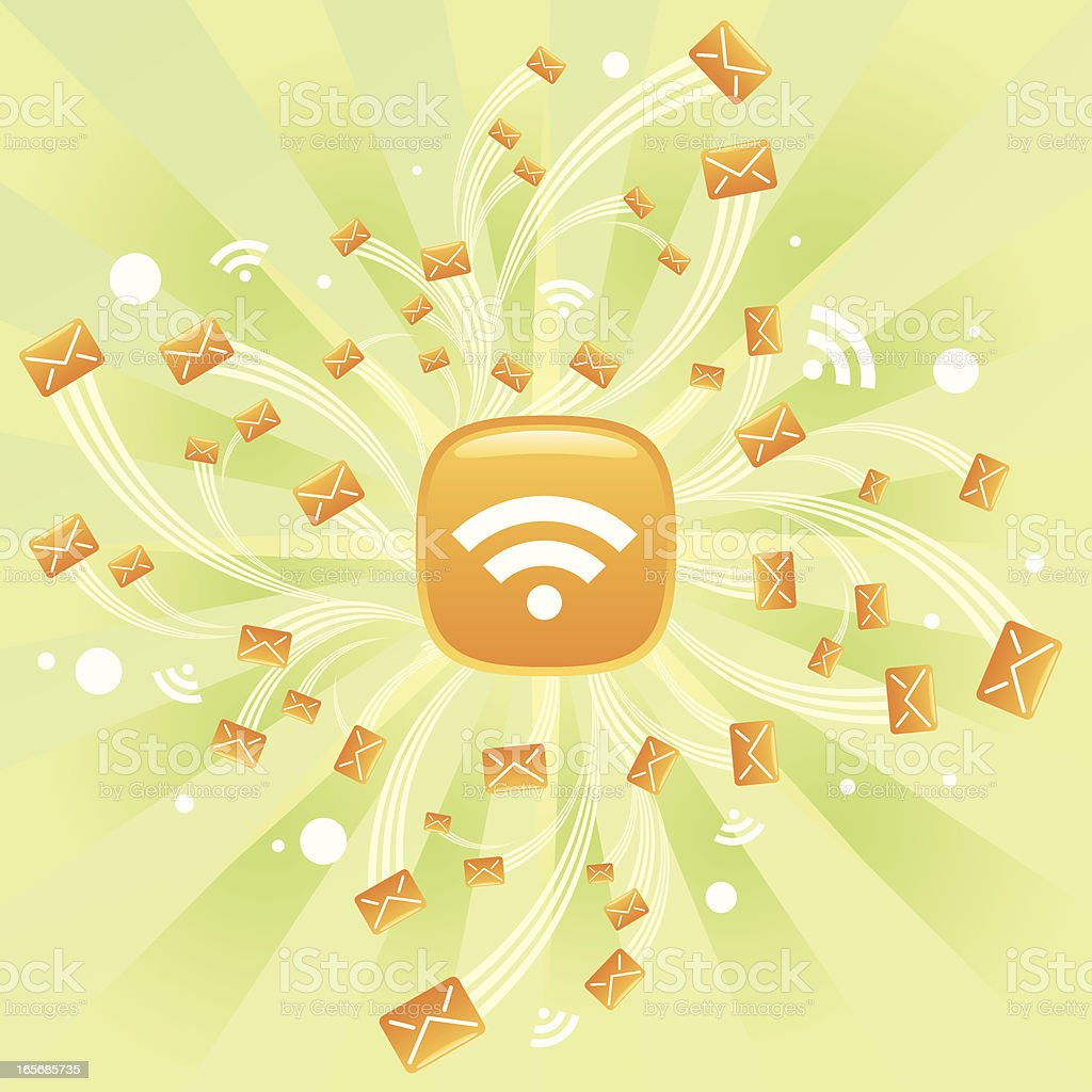 Email Explosion royalty-free stock vector art