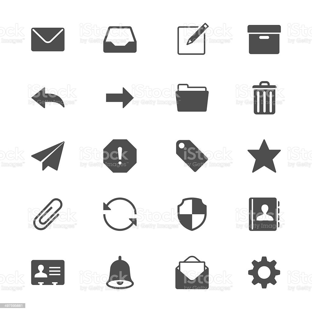 Email flat icons vector art illustration