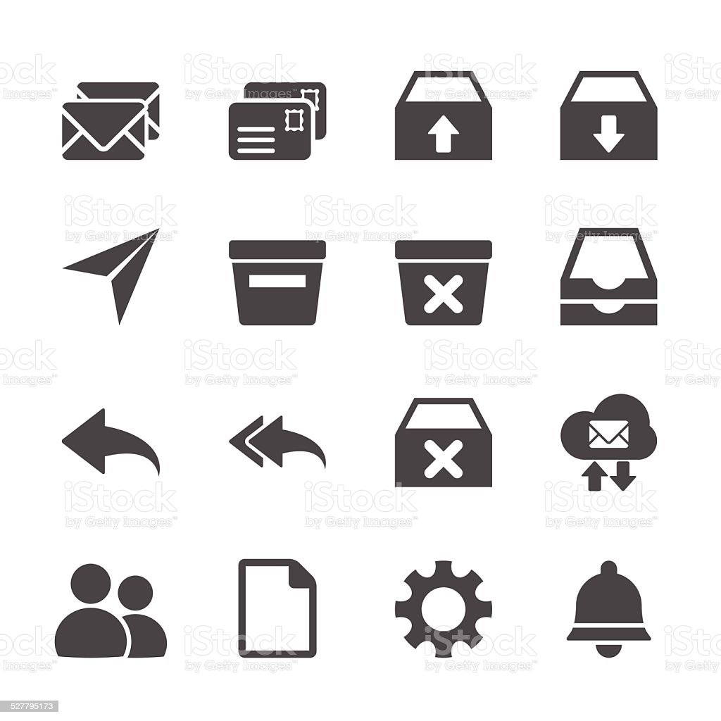 email icon set, vector eps10 vector art illustration