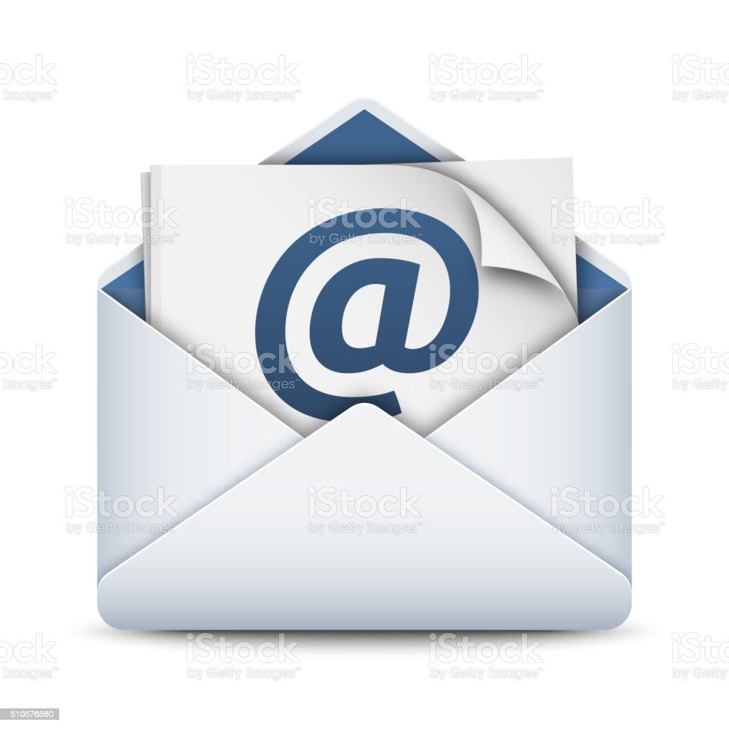 E-mail icon, vector illustration vector art illustration
