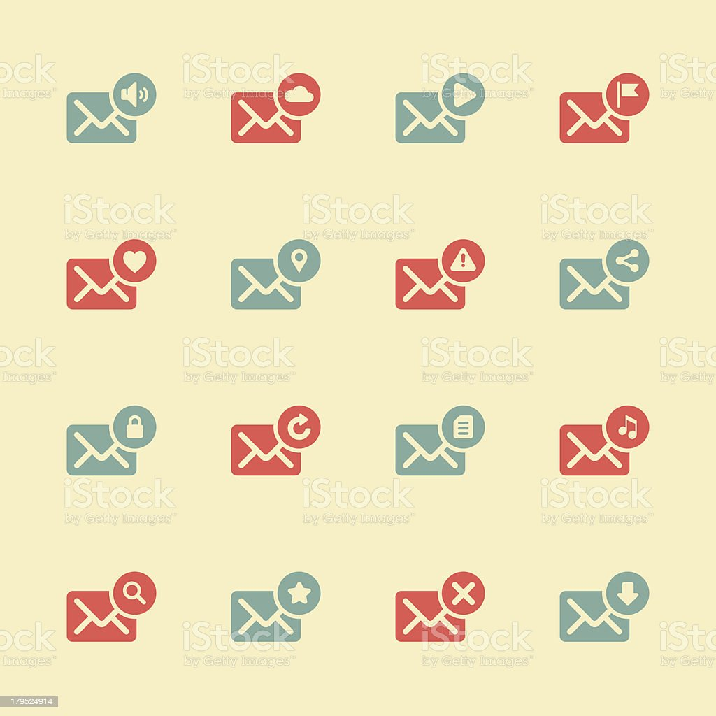 Email Icons - Color Series | EPS10 royalty-free stock vector art
