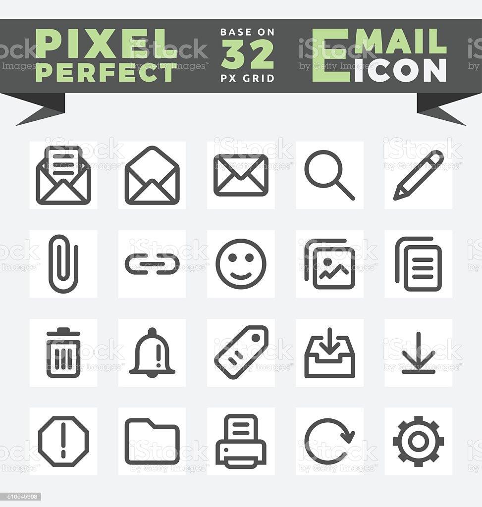 E-Mail icons set for user interface design vector art illustration
